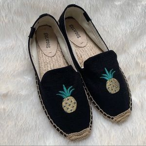 Soludos || NEW Black Pineapple Espadrilles 7